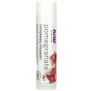 Now Foods, Solutions, поцелуи без проблем, органический гранатовый бальзам для губ, 4,25 г (0,15 унции)