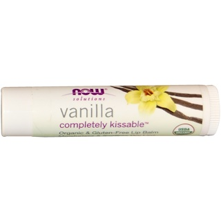 Now Foods, Solutions, Completely Kissable, Organic Lip Balm, Vanilla, .15 oz (4.25 g)