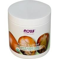 Now Foods, Solutions, сертифицированное натуральное масло ши, 7 жидких унций (207 мл) - фото