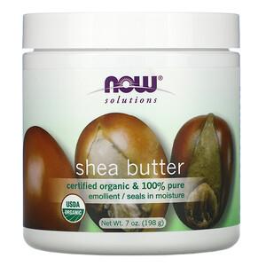 Now Foods, Solutions, Shea Butter, 7 oz (198 ml) отзывы покупателей