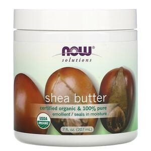 Now Foods, Solutions, Shea Butter, Certified Organic, 7 fl oz (207 ml) отзывы