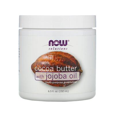 Фото - Solutions, какао-масло с маслом жожобы, 192 мл (6,5 жидких унций) solutions расслабляющее розовое масло для массажа 237 мл 8 жидких унций