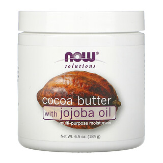 Now Foods, Solutions, Cocoa Butter with Jojoba Oil, 6.5 oz (184 g)