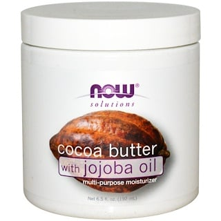 Now Foods, Solutions, Manteca de Cacao con Aceite de Jojoba, 6.5 fl oz (192 ml)