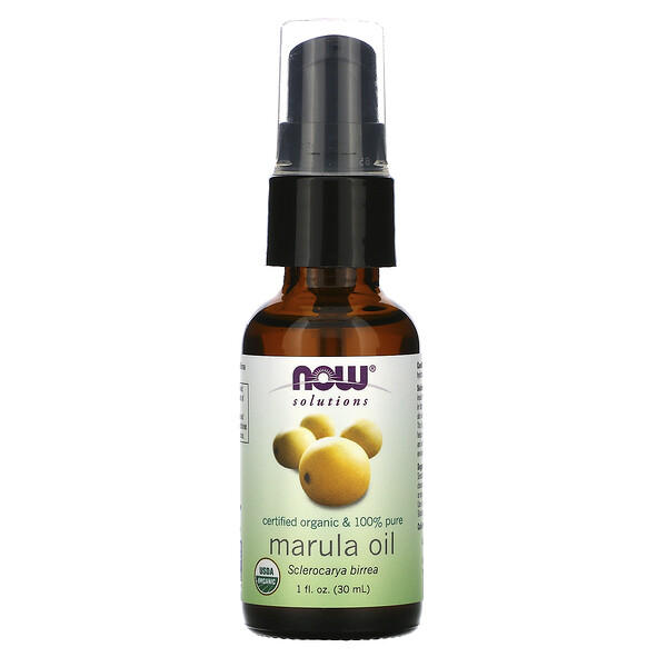 Now Foods, Solutions, Certified Organic & 100% Pure Marula Oil, 1 fl oz (30 ml)
