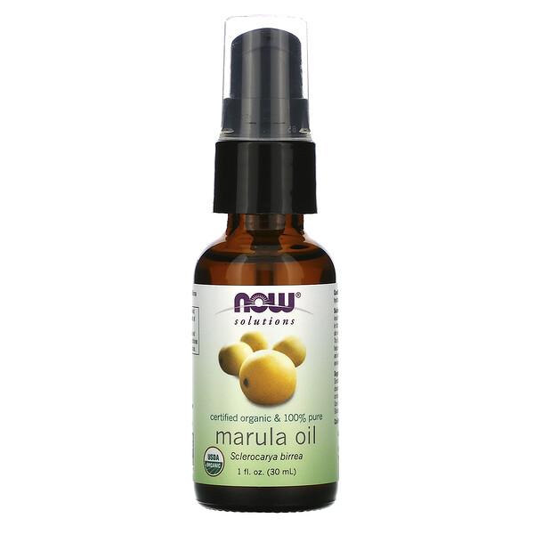 Solutions, Certified Organic & 100% Pure Marula Oil, 1 fl oz (30 ml)