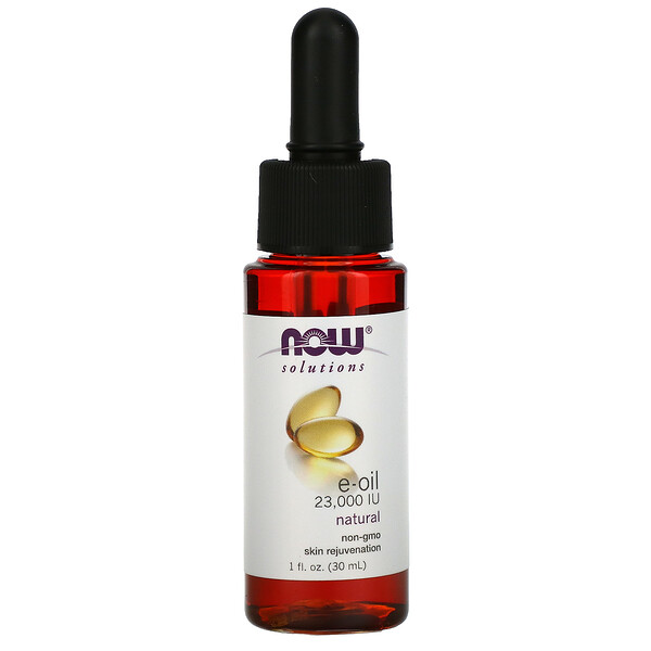 Now Foods, Solutions, E-Oil, 23,000 IU, 1 fl oz  (30 ml)