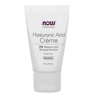 Now Foods, Solutions, Hyaluronic Acid Creme, PM Moisture Renew Formula, 2 fl oz (59 ml)