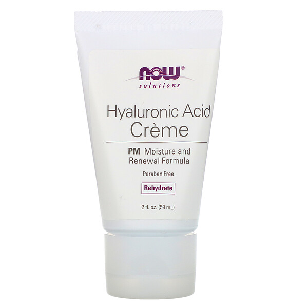 Solutions, Hyaluronic Acid Creme, PM Moisture Renew Formula, 2 fl oz (59 ml)