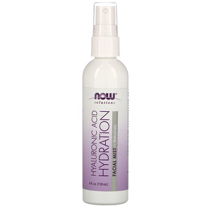 Now Foods, Solutions, Hyaluronic Acid Hydration Facial Mist, 4 fl oz (118 ml)