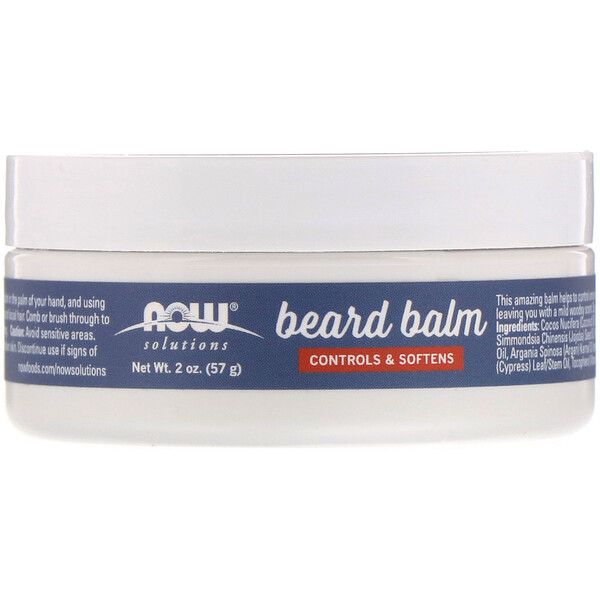 Now Foods, Beard Balm, Controls & Softens, Light Woodsy , 2 oz (57 g)
