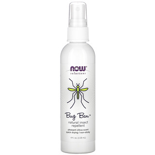 Now Foods, Bug Ban, Natural Insect Repellent, 4 fl oz (118 ml)