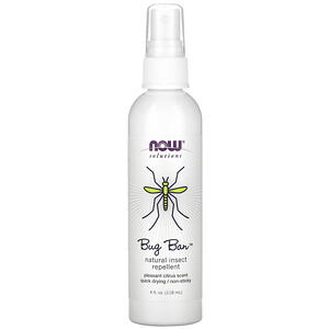 Now Foods, Bug Ban, Natural Insect Repellent, 4 fl oz (118 ml) отзывы