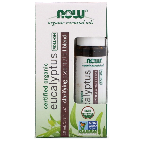 Certified Organic Eucalyptus Roll-On, 1/3 fl oz (10 ml)