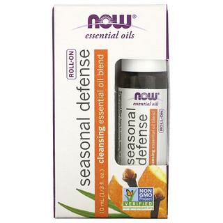 Now Foods, Essential Oils, Seasonal Defense Roll-On, 1/3 fl oz (10 ml)