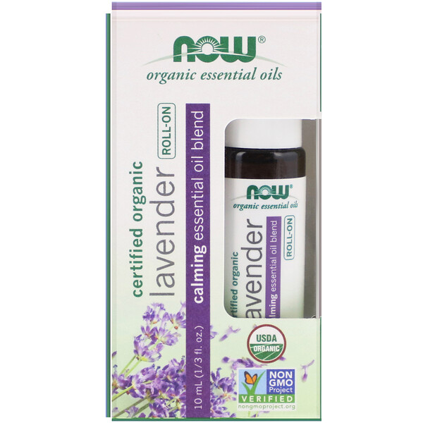 Certified Organic Lavender Roll-On, 1/3 fl oz (10 ml)