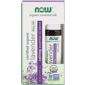 Now Foods, Certified Organic Lavender Roll-On, 1/3 fl oz (10 ml)'