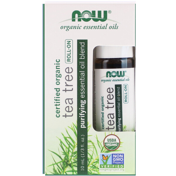 Roll-on d'huile de Tea Tree biologique, 10 ml