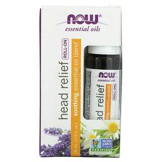Now Foods, Essential Oils, Head Relief Roll-On, 1/3 fl oz (10 ml)