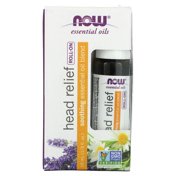 Essential Oils, Head Relief Roll-On, 1/3 fl oz (10 ml)