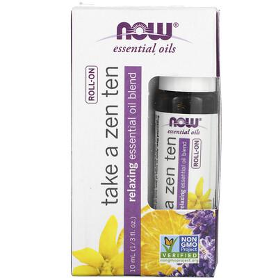Now Foods Essential Oils, Take a Zen Ten Roll On, 1/3 fl oz (10 ml)