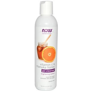Now Foods, Solutions, Gel Purifiant, Vitamine C et Miel de Manuka, 237 ml