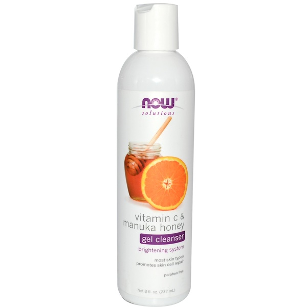 Now Foods, Solutions, Gel Cleanser, Vitamina C y Miel Manuka, 8 fl oz (237 ml)