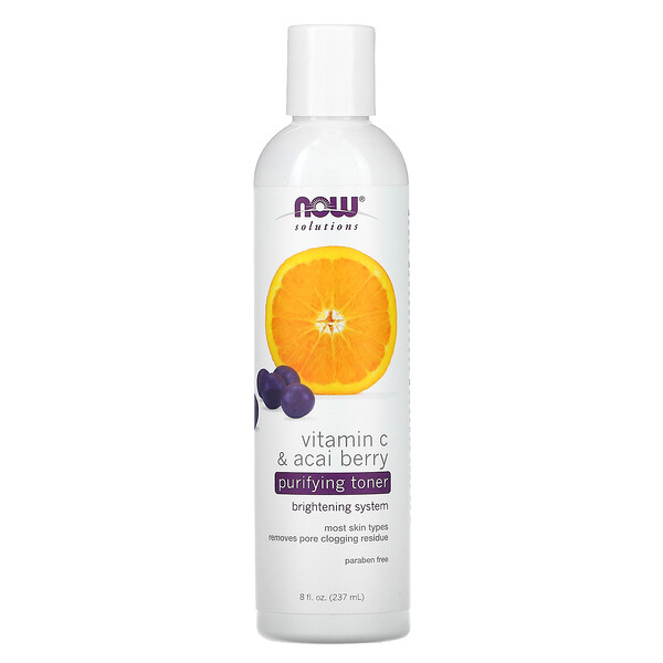 Solutions, Purifying Toner, Vitamin C & Acai Berry, 8 fl oz (237 ml)