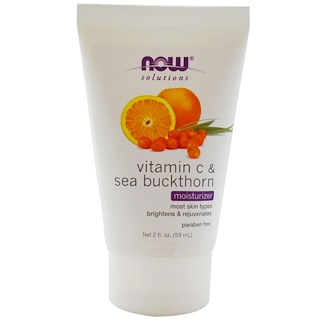 Now Foods, Solutions, Moisturizer, Vitamin C & Sea Buckthorn, 2 fl oz (59 ml)