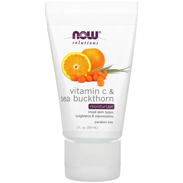 Now Foods, Solutions, Vitamin C & Sea Buckthorn Moisturizer, 2 fl oz (59 ml)