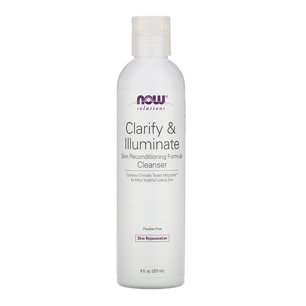 Now Foods, Solutions, Clarify & Illuminate Cleanser, 8 fl oz (237 ml)