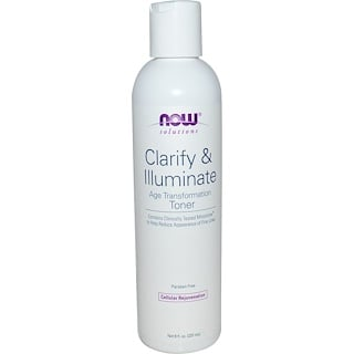 Now Foods, Solutions, Clarify & Illuminate Toner, 8 fl oz (237 ml)