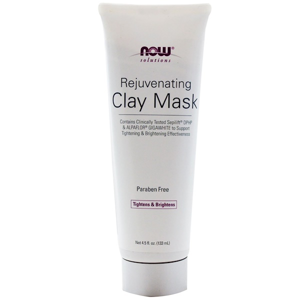 Now Foods, Solutions, Rejuvenating Clay Mask, 4.5 fl oz (133 ml) (Discontinued Item)