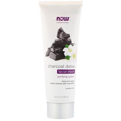 Купить Now Foods Solutions, маска-детокс для лица с активированным углем, 4 ж. унц. (118 мл)