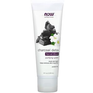 Now Foods, Solutions, Charcoal Detox Facial Mask, 4 fl oz (118 ml) отзывы