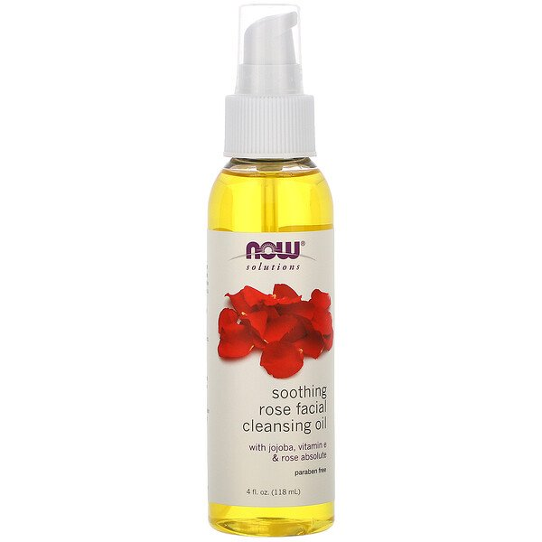 Solutions, Soothing Rose Facial Cleansing Oil, 4 fl oz (118 ml)