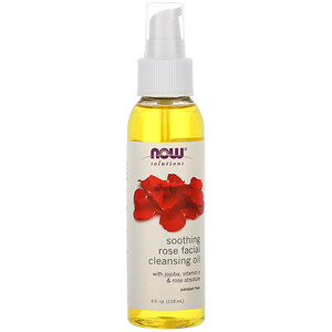 Now Foods, Solutions, Soothing Rose Facial Cleansing Oil, 4 fl oz (118 ml) отзывы