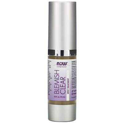 Купить Now Foods Solutions, Blemish Clear, Spot Treatment, Purify, 0.5 fl oz (15 ml)