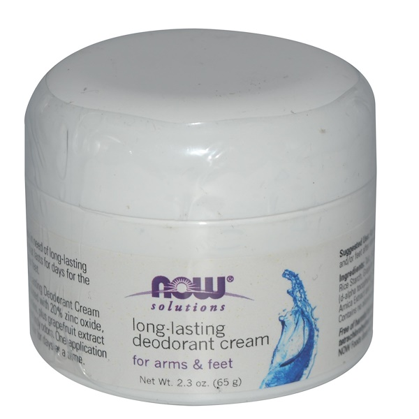 Now Foods, Long-Lasting Deodorant Cream, 2.3 oz (65 g) (Discontinued Item)