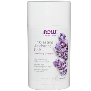 Now Foods, Solutions, Long-Lasting Deodorant Stick, Refreshing Lavender, 2.2 oz (62 g)