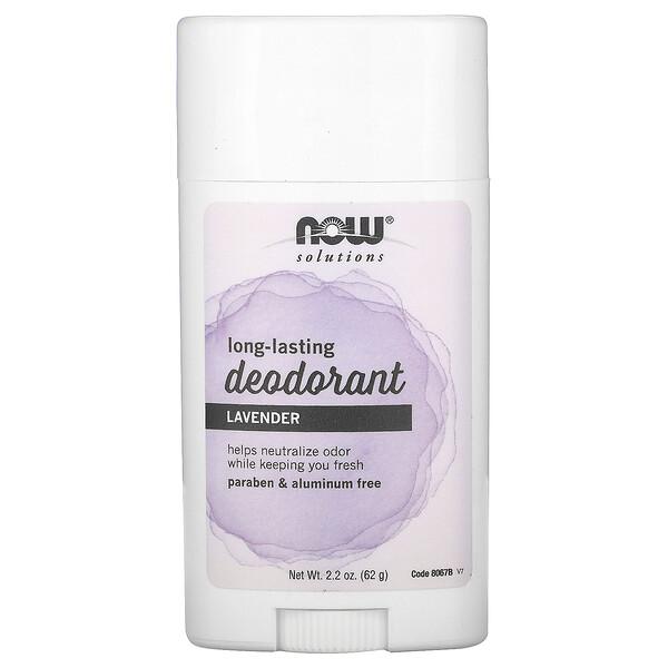 Solutions, stick déodorant longue-durée, lavande fraiche, 62 g.