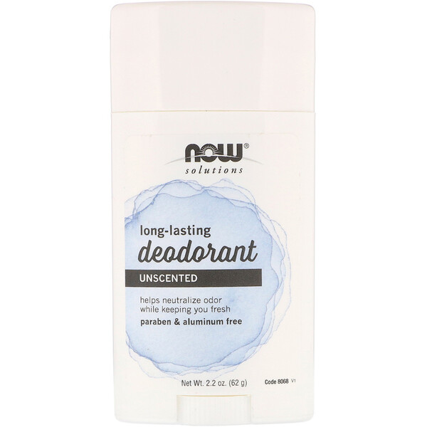 Now Foods, Long Lasting Deodorant, Unscented, 2.2 oz (62 g)