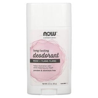 Now Foods, Long Lasting Deodorant, Rose + Ylang Ylang, 2.2 oz (62 g)