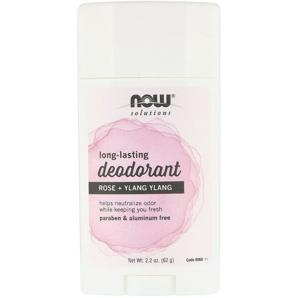 Now Foods, Long Lasting Deodorant, Rose + Ylang Ylang, 2.2 oz (62 g)