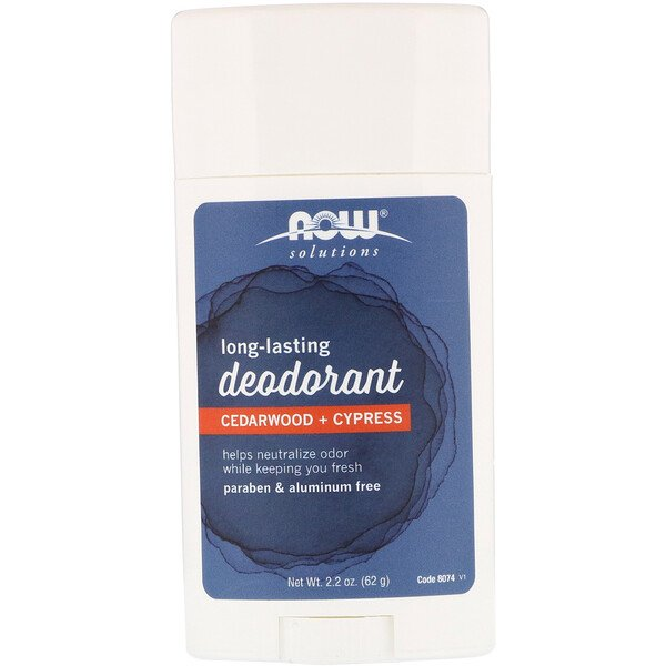 Now Foods, Long Lasting Deodorant, Cedarwood + Cypress, 2.2 oz (62 g)