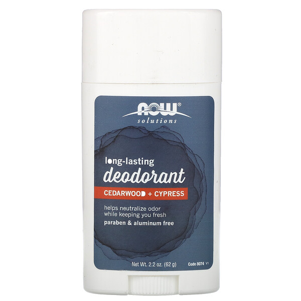 Long Lasting Deodorant, Cedarwood + Cypress, 2.2 oz (62 g)