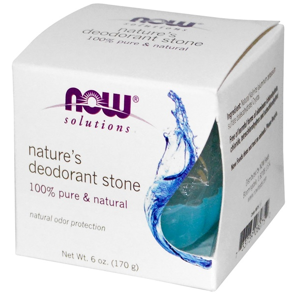 Now Foods, Nature's Deodorant Stone, 6 oz (170 g) (Discontinued Item)