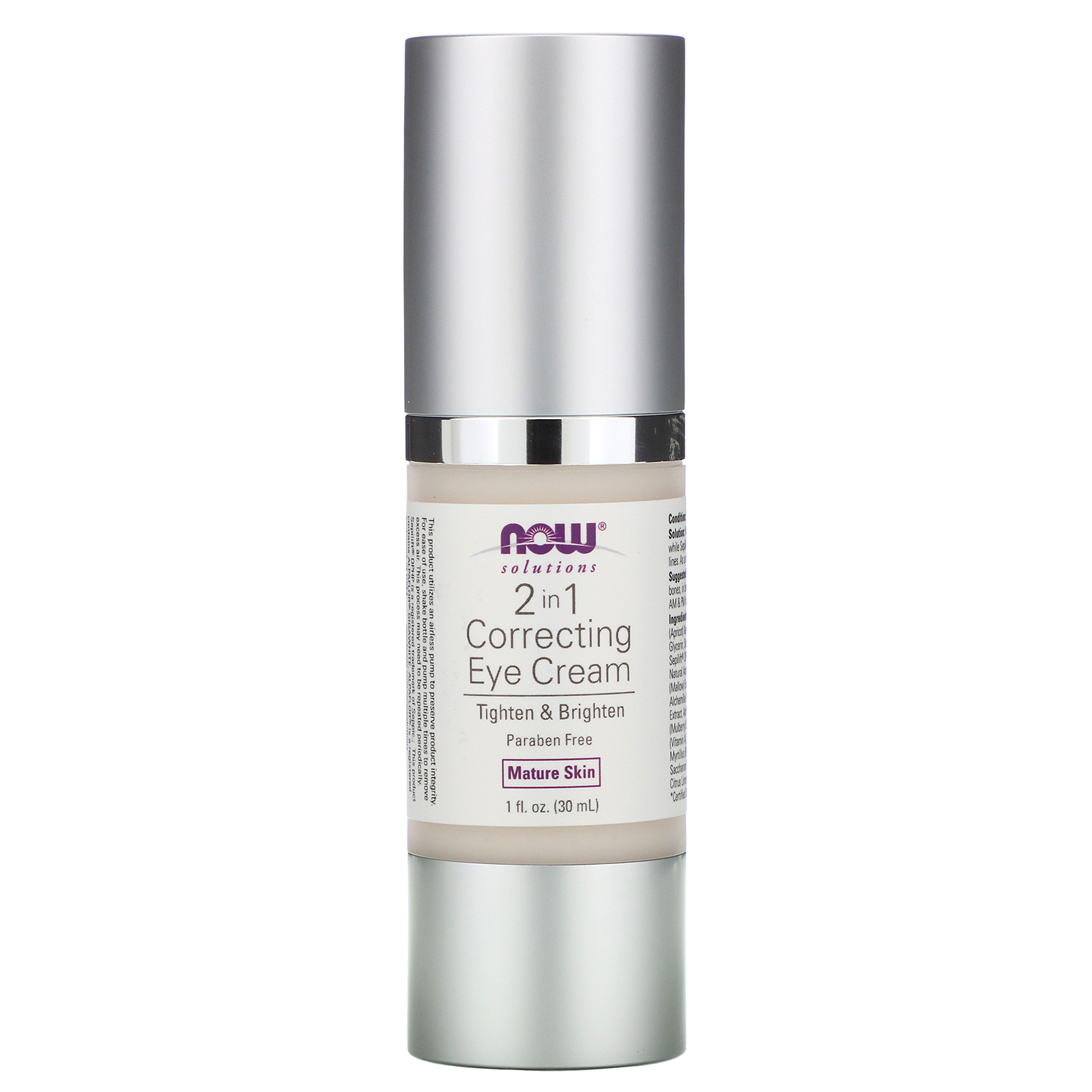 Now Foods Solutions 2 in 1 Correcting Eye Cream 1 fl oz 30 ...
