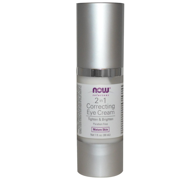 Now Foods, Solutiones, 2 en 1 Crema correctora para ojos, 1 fl oz (30 ml)