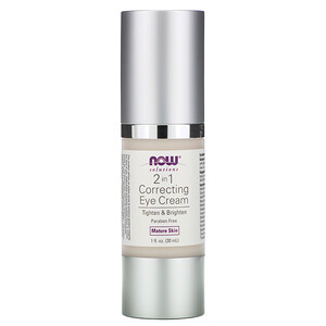 Now Foods, Solutions, 2 in 1 Correcting Eye Cream, 1 fl oz (30 ml) отзывы покупателей